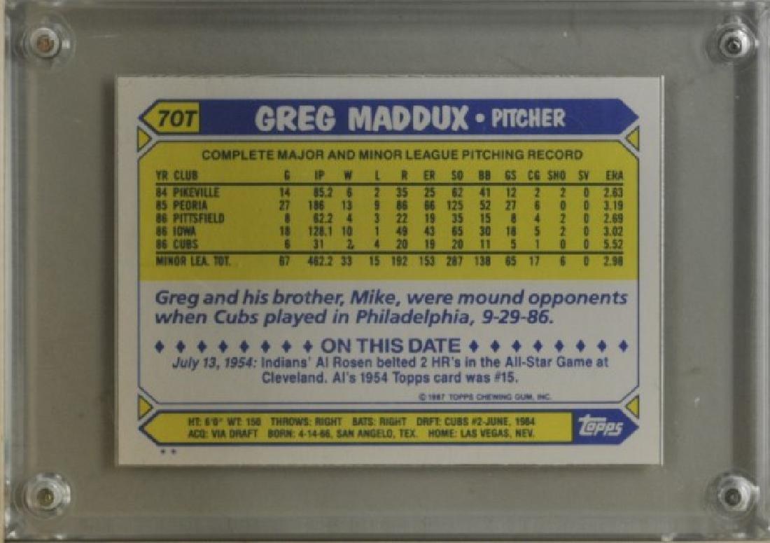 1987 Greg Maddux Topps Baseball Card - 2