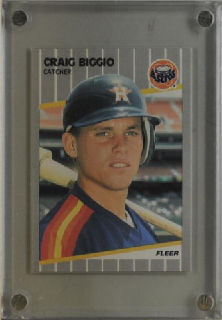 1989 Craig Biggio Fleer Baseball Card