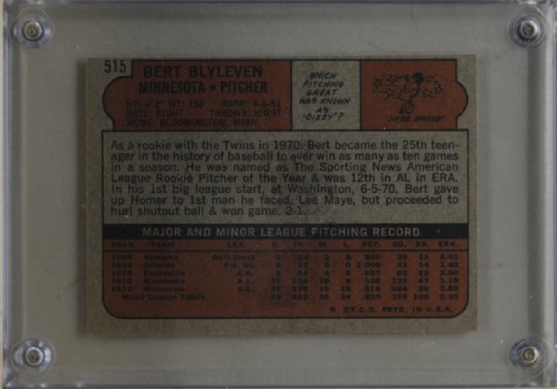 1972 Bert Blyleven Topps Baseball Card - 2