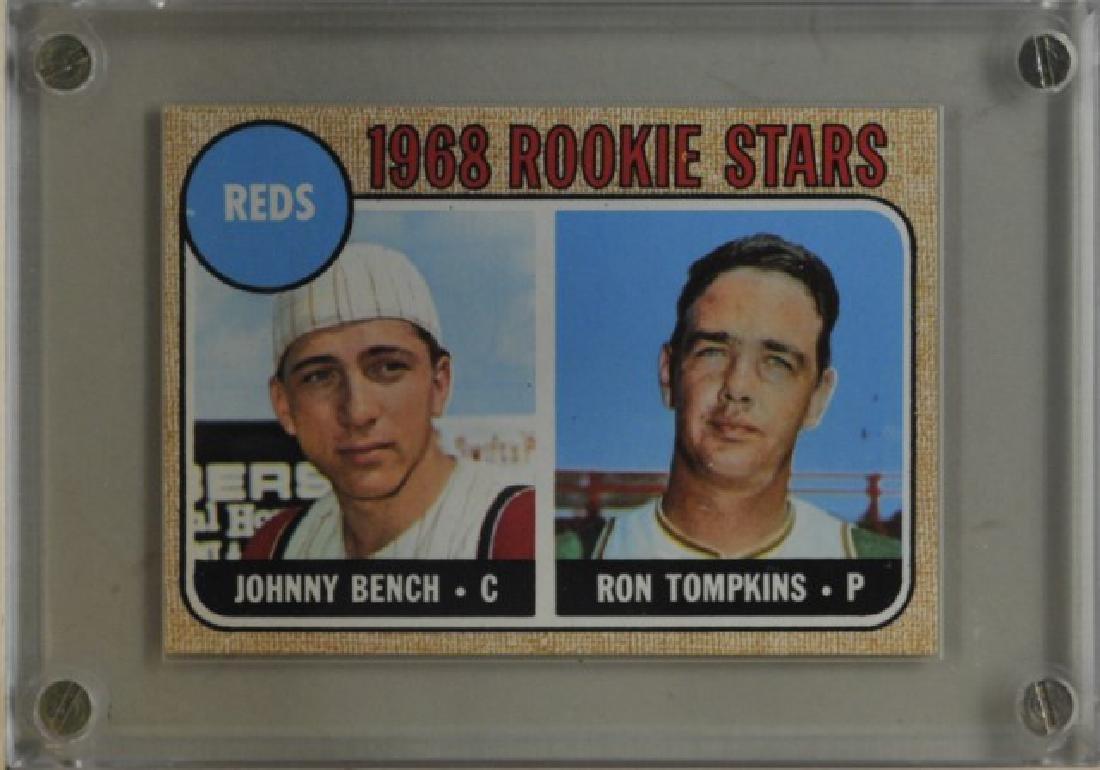 Johnny Bench, Ron Tompkins Topps Baseball Card