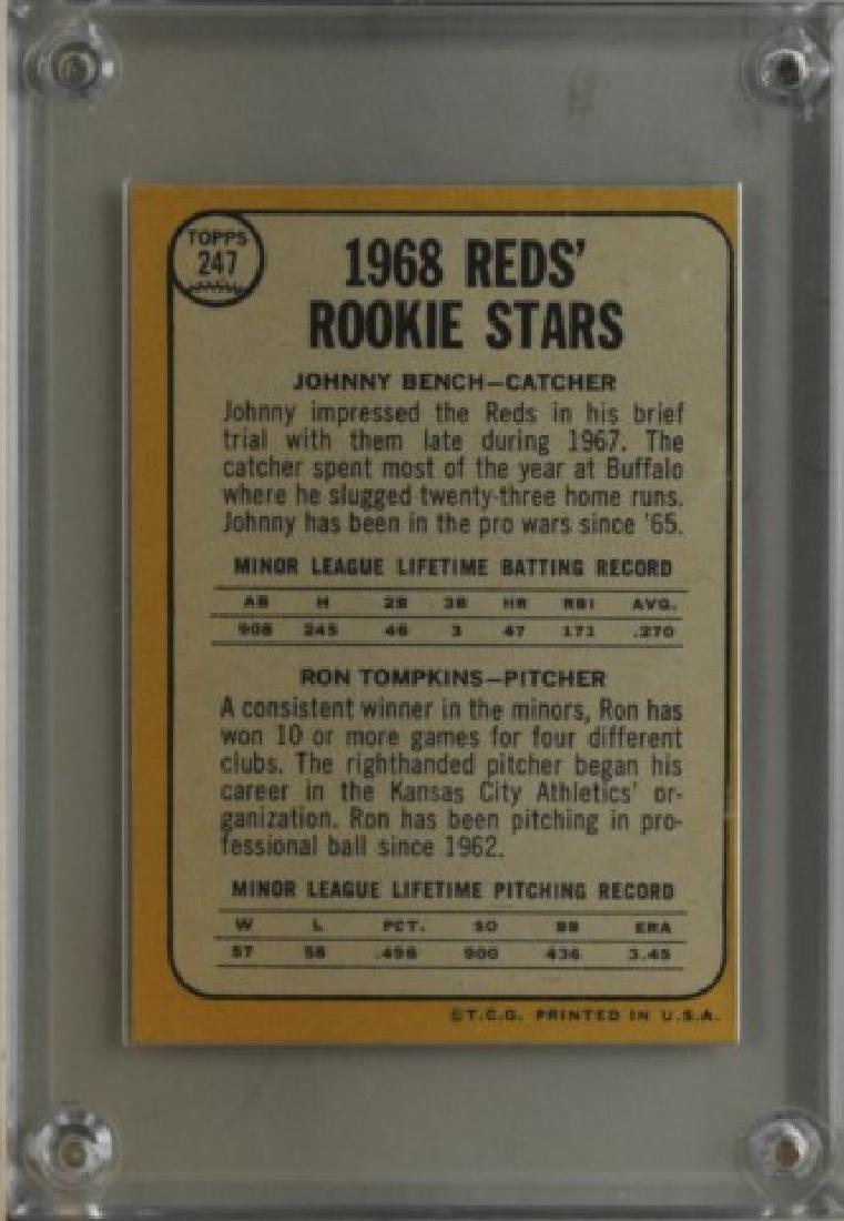 Johnny Bench, Ron Tompkins Topps Baseball Card - 2