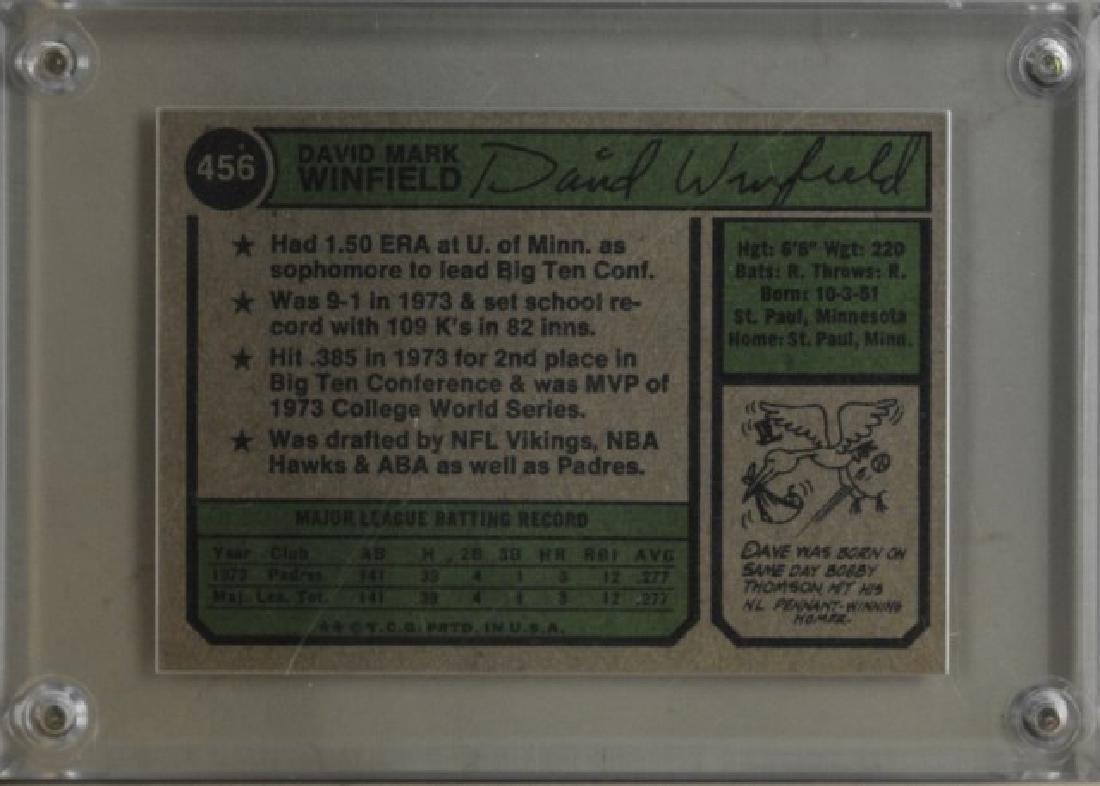 1974 Dave Winfield Topps Baseball Card - 2