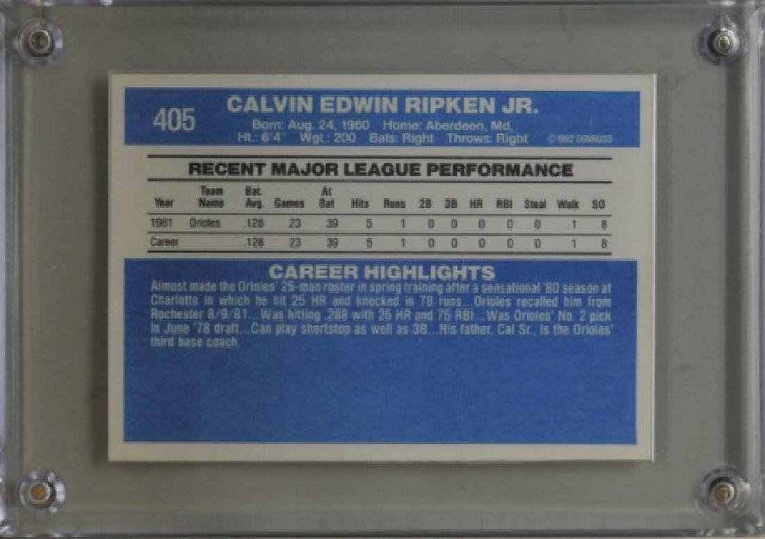 1982 Cal Ripken Jr. Donruss Baseball Card - 2