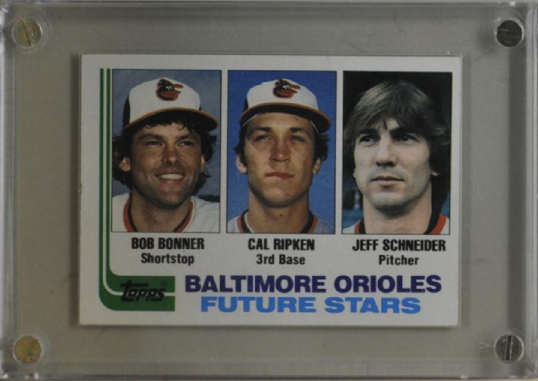 Bonner, Ripken, Schneider Topps Baseball Card