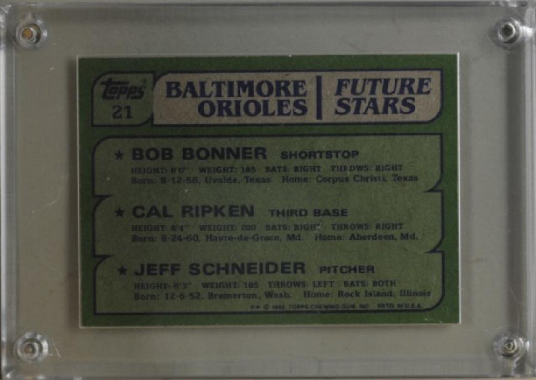 Bonner, Ripken, Schneider Topps Baseball Card - 2
