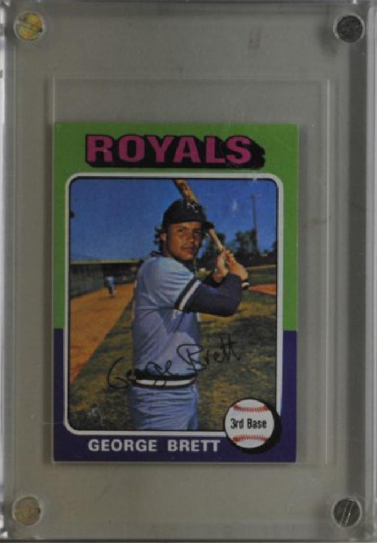 1975 George Brett Topps Baseball Card
