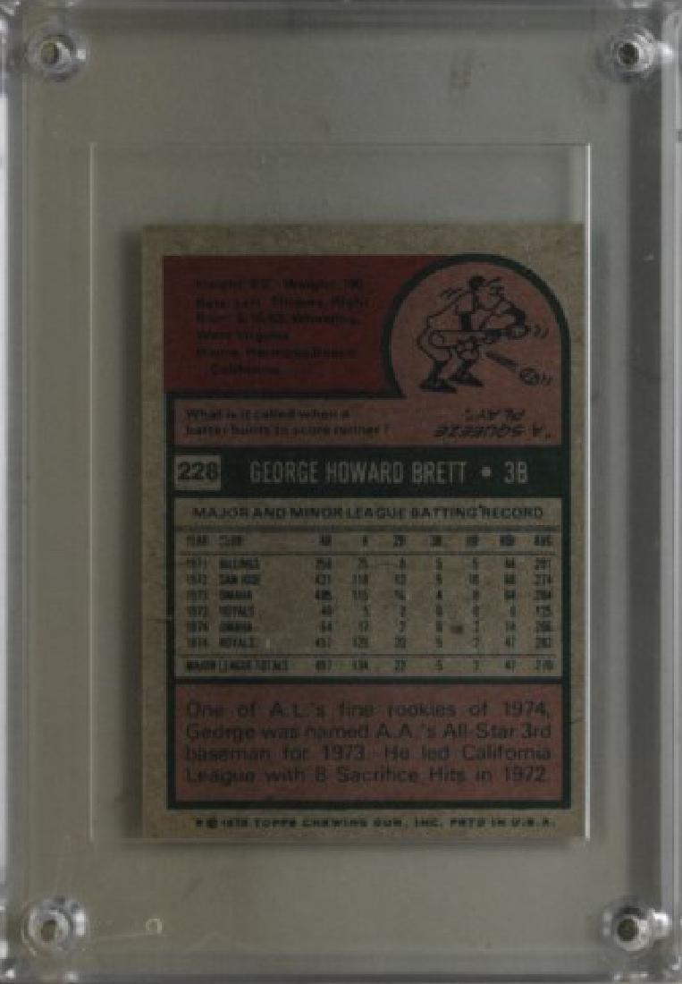 1975 George Brett Topps Baseball Card - 2