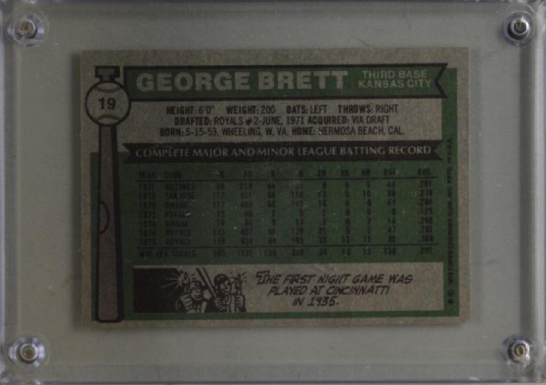 1976 George Brett Topps Baseball Card - 2