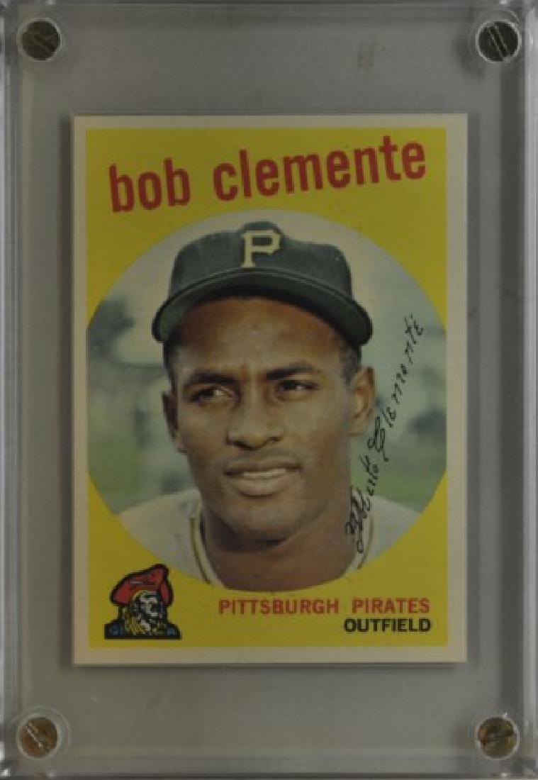 1959 Bob Clemente Topps Baseball Card