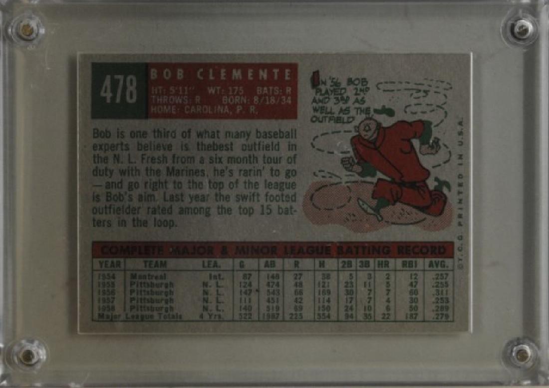 1959 Bob Clemente Topps Baseball Card - 2