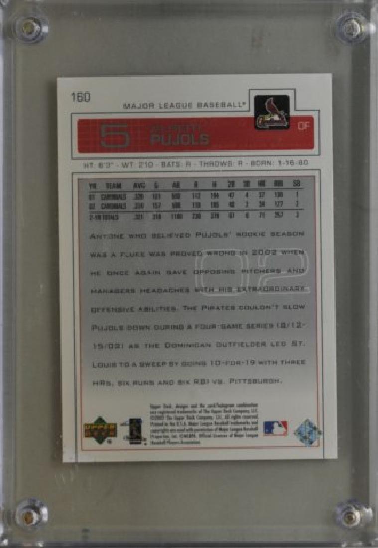 2003 Albert Pujols Upper Deck Baseball Card - 2