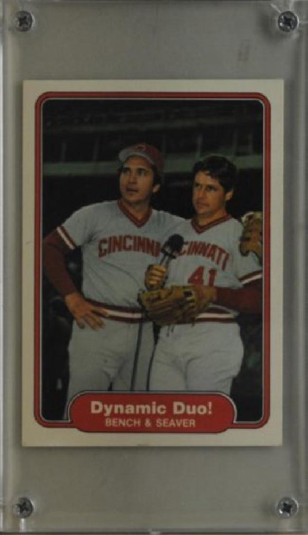 Johnny Bench, Tom Seaver Fleer Baseball Card
