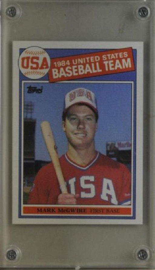 1984 Mark Mcgwire Topps Baseball Card