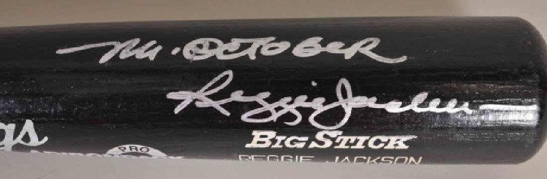 "Signed Reggie Jackson ""Mr. October"" Bat - 2"