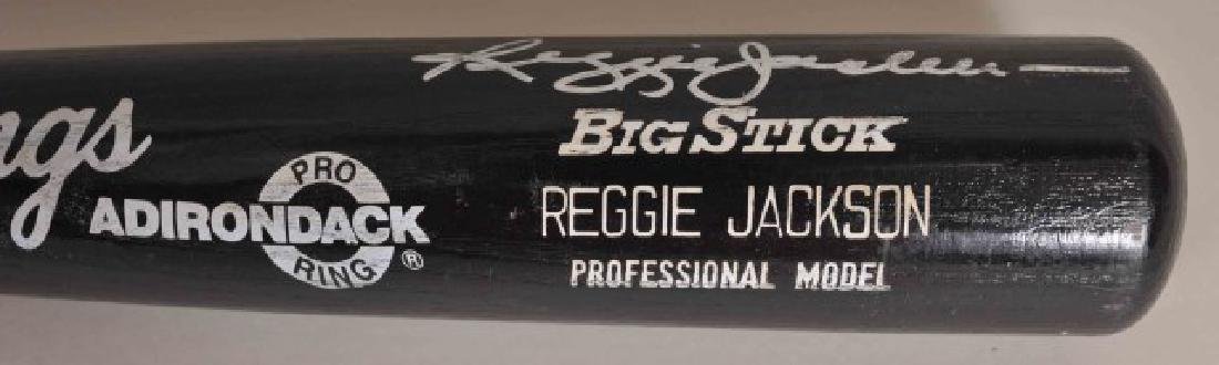 "Signed Reggie Jackson ""Mr. October"" Bat - 3"