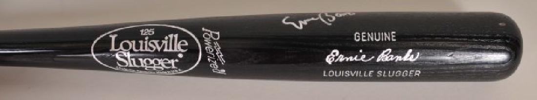 Signed Ernie Banks Autograph Model Bat - 3