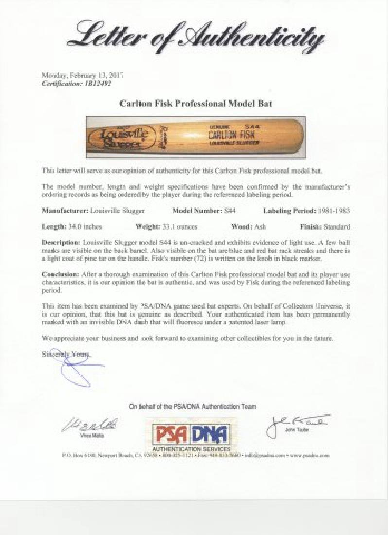 PSA -Authenticated Carlton Fisk Game Used Bat - 8