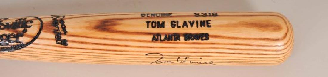 Signed Tom Glavine Game Used Bat - 2