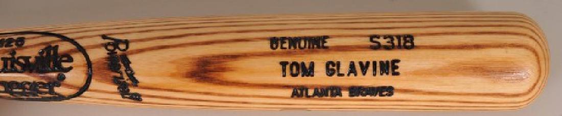 Signed Tom Glavine Game Used Bat - 3