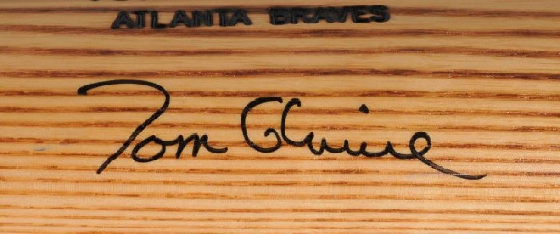 Signed Tom Glavine Game Used Bat - 4