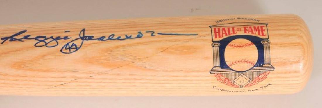 Signed Reggie Jackson Hall of Fame Bat - 2