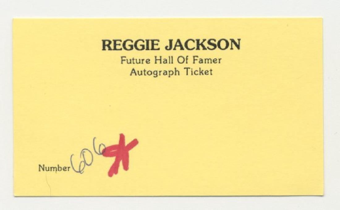 Signed Reggie Jackson Hall of Fame Bat - 5