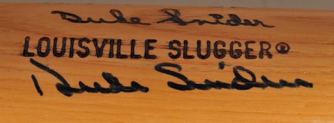 Signed Duke Snider Bat - 3