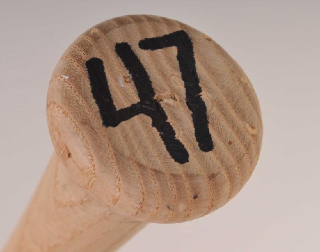 Signed Tom Glavine Game Used Bat - 5