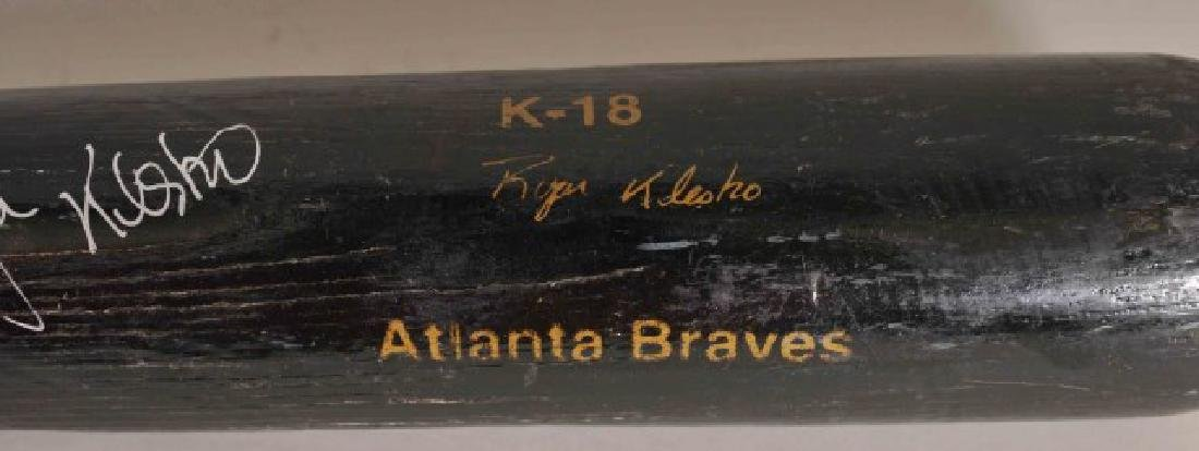 Signed Ryan Klesko Game Used Bat - 3