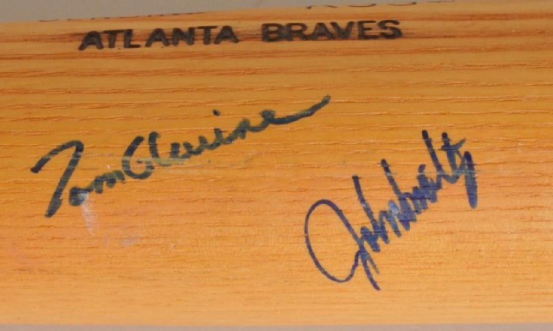 Bat with Several Atlanta Braves Signatures - 6