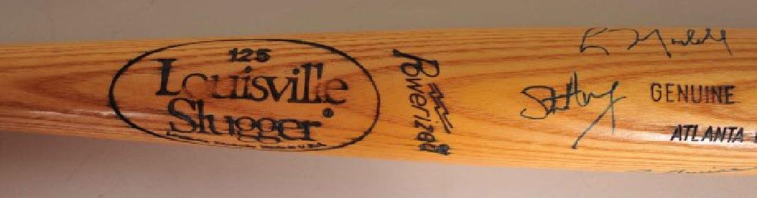 Bat with Several Atlanta Braves Signatures - 7