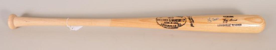 Signed Yogi Berra Bat