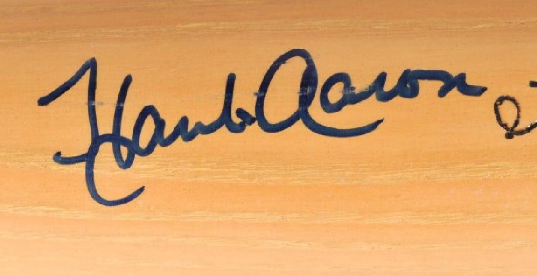 Signed Hank Aaron Bat w/ Ticket - 4