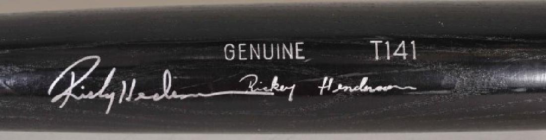 Signed Rickey Henderson Bat - 2