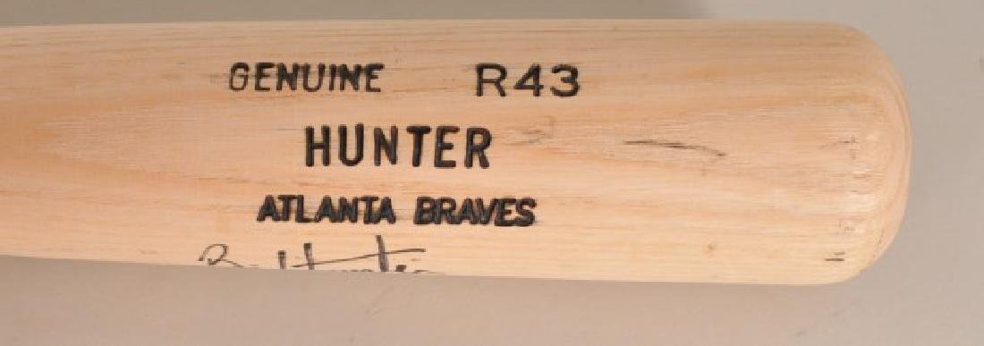 Signed Brian Hunter Bat - 2