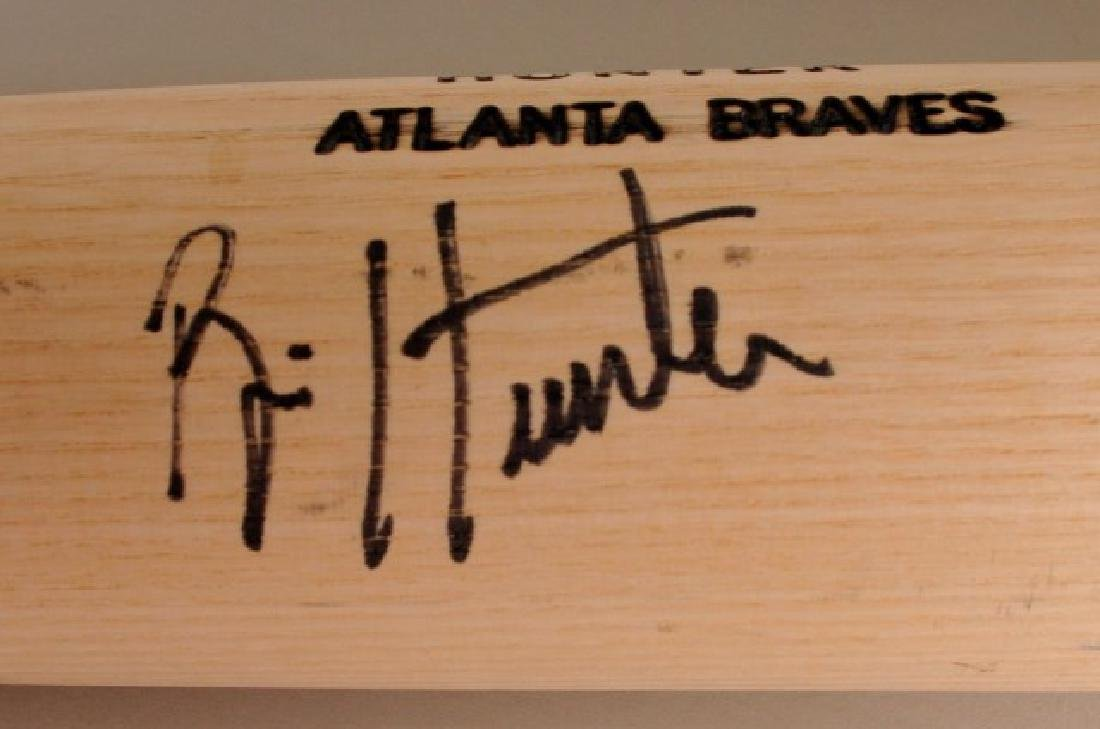 Signed Brian Hunter Bat - 3
