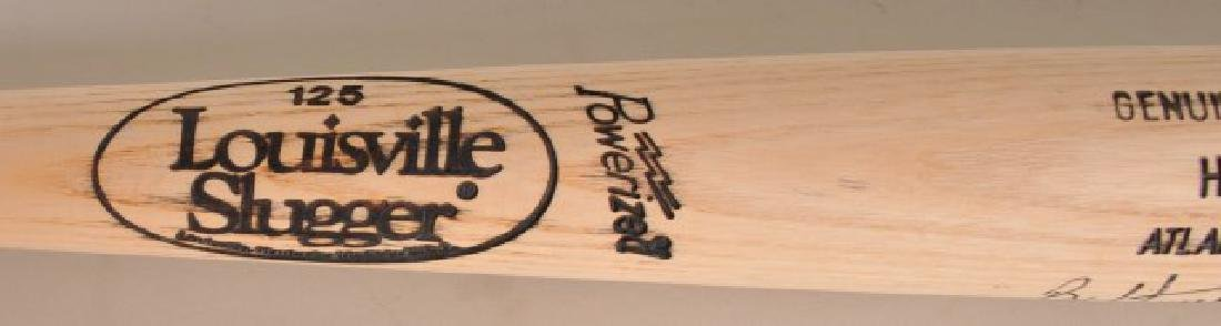 Signed Brian Hunter Bat - 4