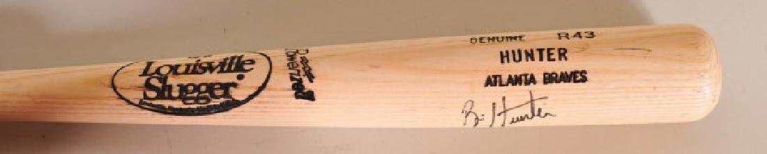 Signed Brian Hunter Bat - 7