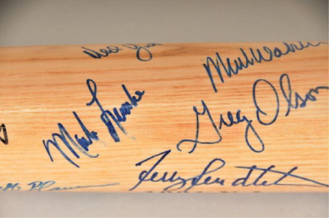 Signed 1991 NL Champs Atlanta Braves Bat - 3