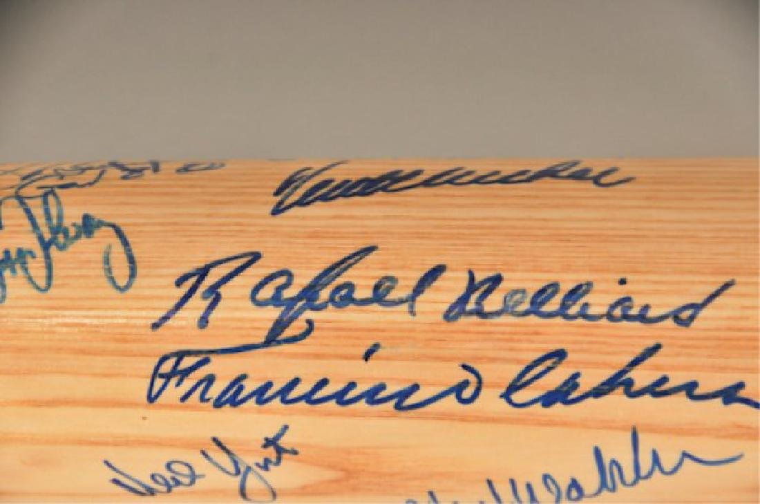 Signed 1991 NL Champs Atlanta Braves Bat - 4