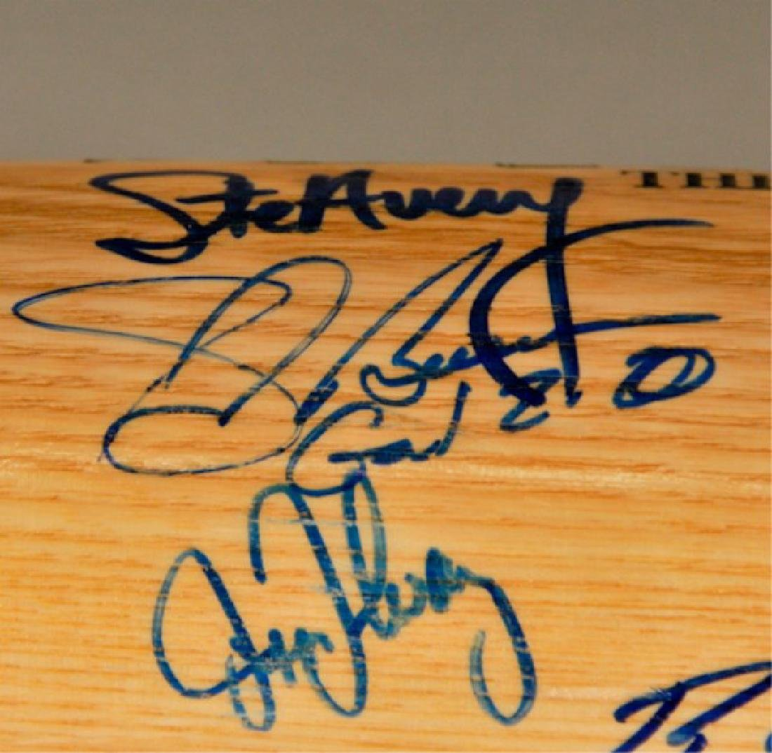 Signed 1991 NL Champs Atlanta Braves Bat - 7
