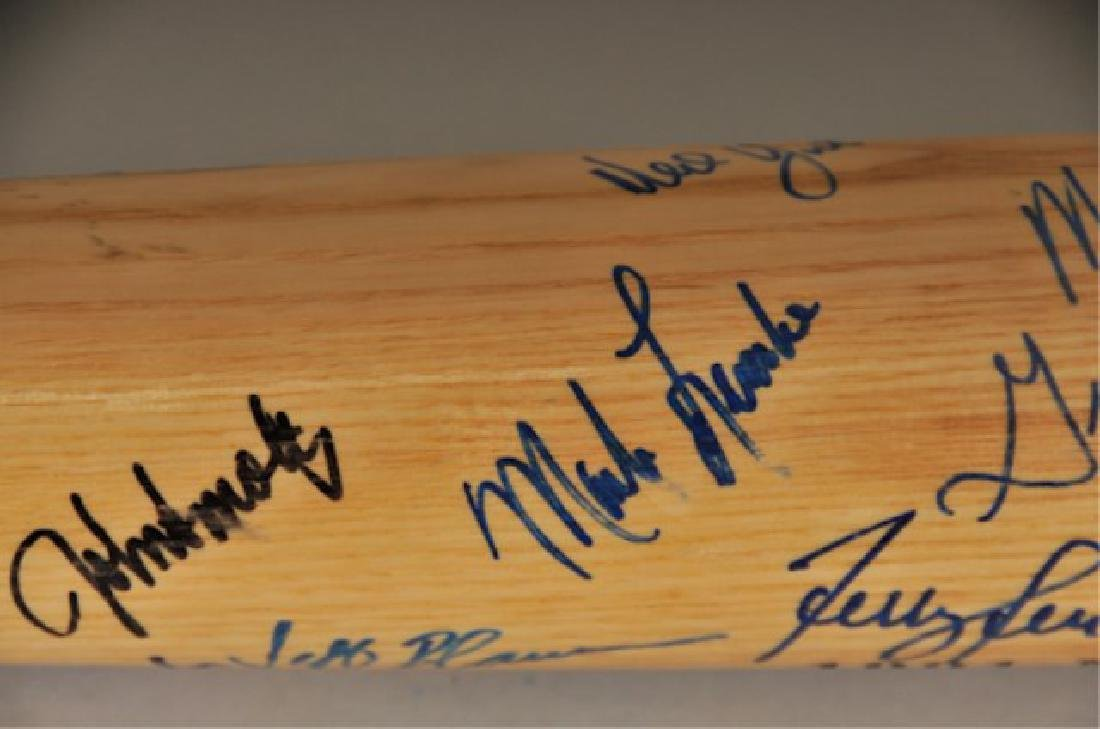 Signed 1991 NL Champs Atlanta Braves Bat - 8