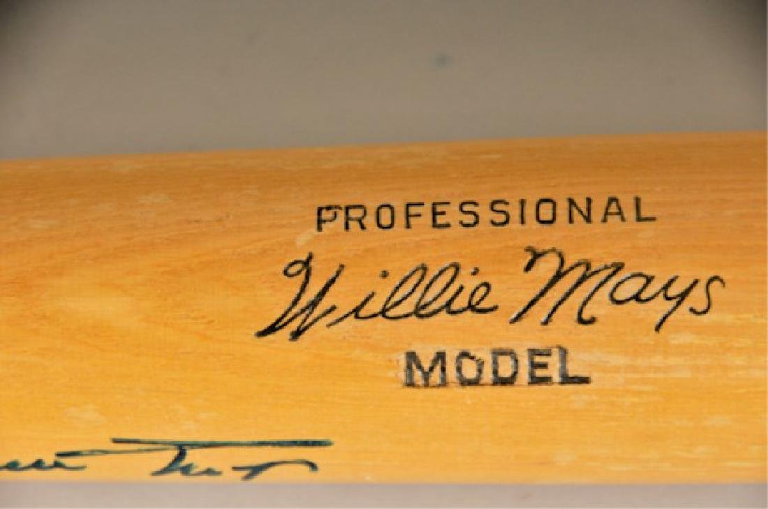 Signed Willie Mays Bat - 3