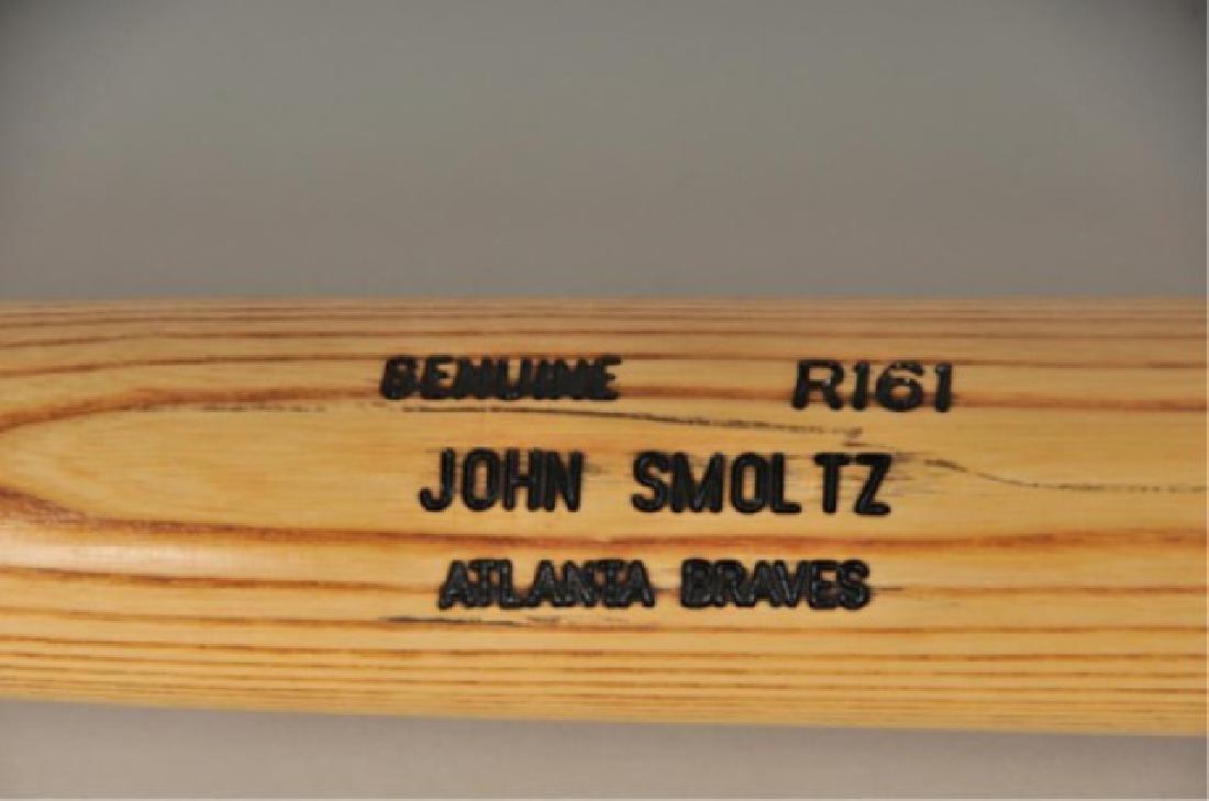 PSA -Authenticated John Smoltz Game Used Bat - 2