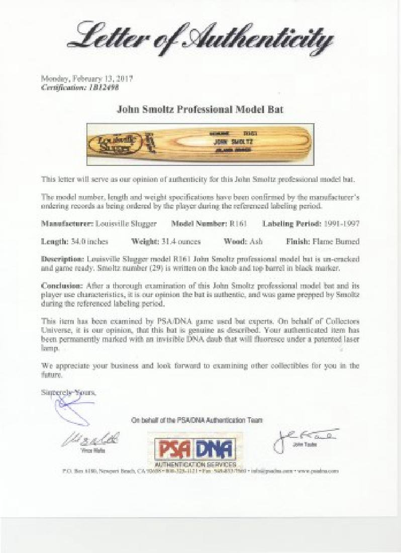PSA -Authenticated John Smoltz Game Used Bat - 7