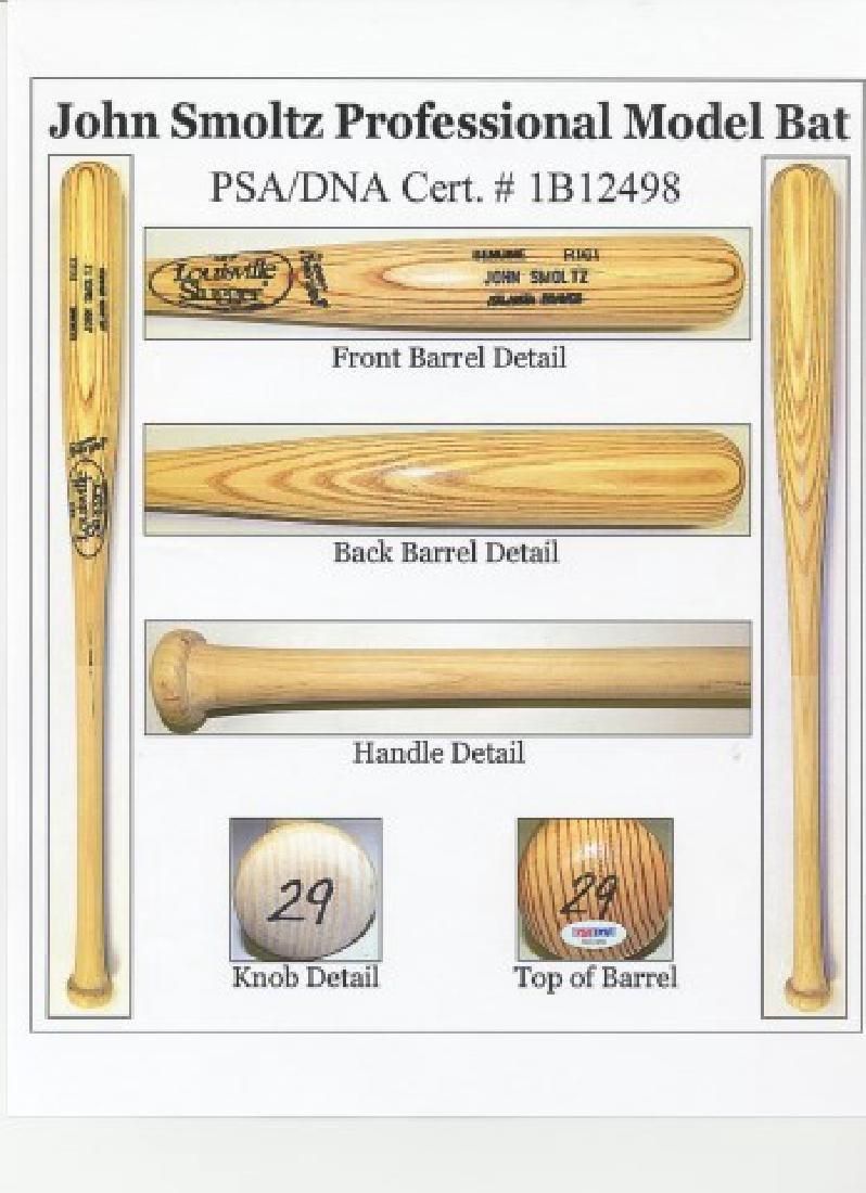 PSA -Authenticated John Smoltz Game Used Bat - 8