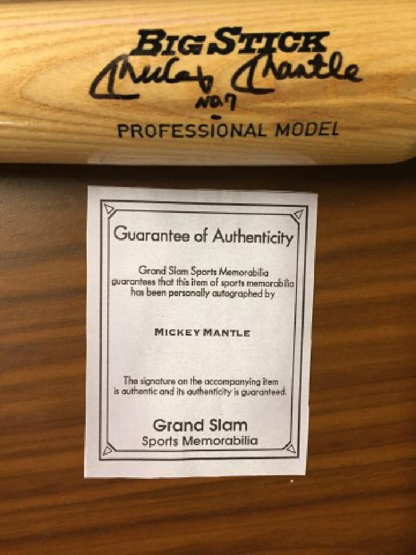 Signed Mickey Mantle Bat w/ COA - 4