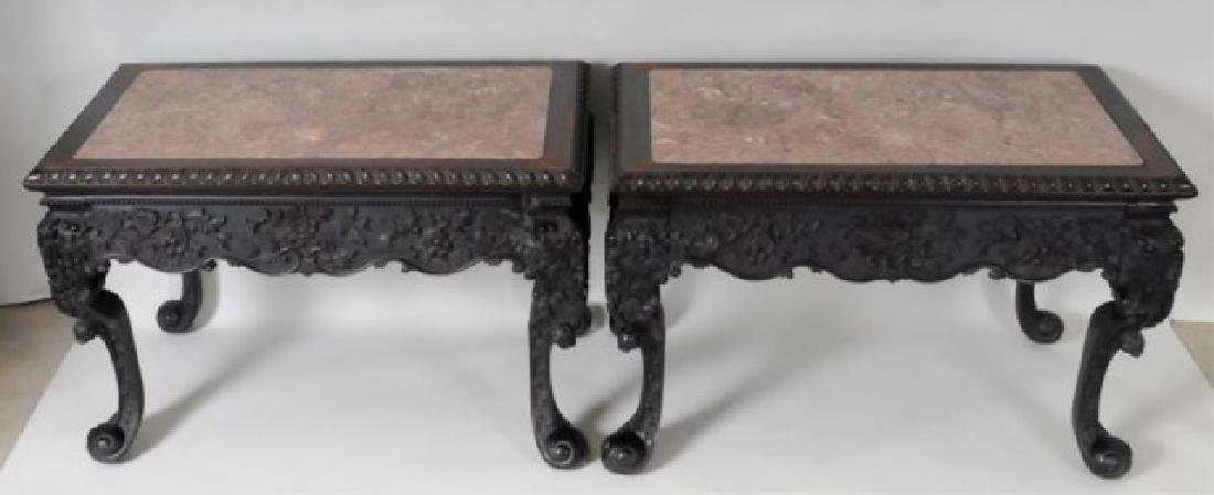 Fine Pr. Anglo-Indian Rosewood Console Tables