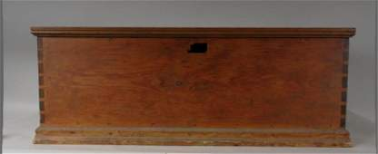 19th Century Dovetailed Pine Blanket Chest