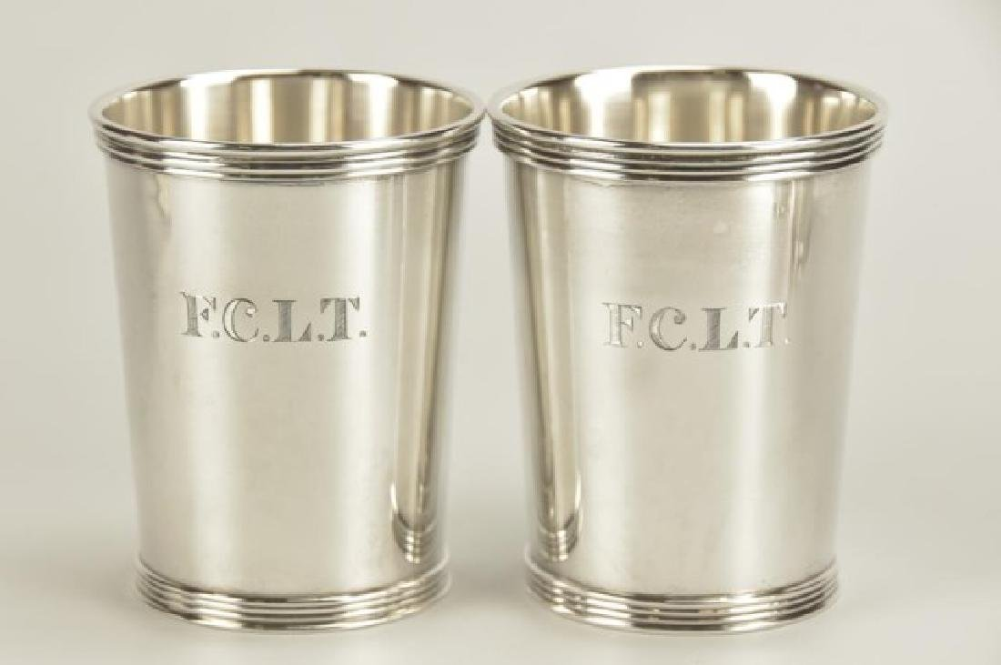 Set of Five Sterling Silver Mint Julep Cups - 4